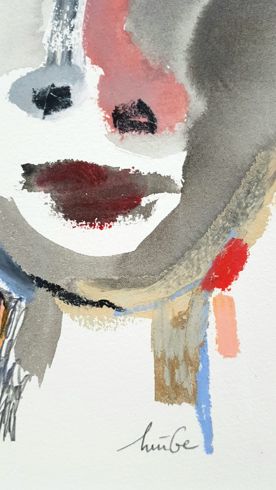 Noor Huige Boy mixed media tekening detail